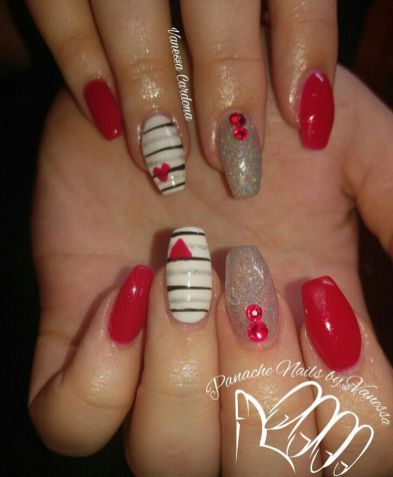 16 secrets to valentines day nails acrylic coffin 67