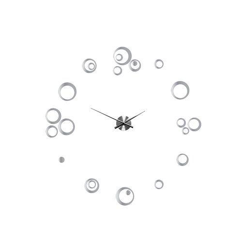East Urban Home Rings 10cm Silent Wall Clock Minimalist Wall Clocks Clock Wall Decor Stickers