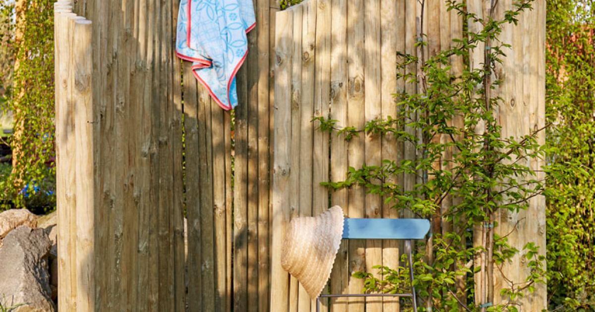 DIY-Anleitung Gartendusche selber bauen - ideen gartendusche design erfrischung