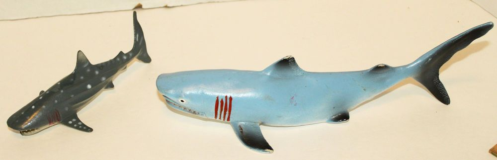 Generic Toy Small Whale Shark And Tiger Shark Vinyl