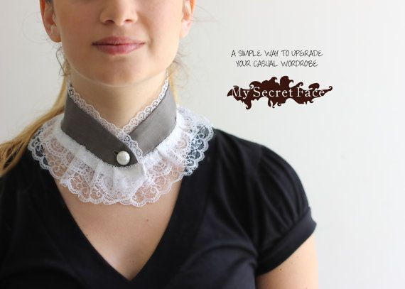 Detachable Collar Lace Collar,Handmade Jewelry,Peter Pan Romantic Collar Lace Necklace Collar