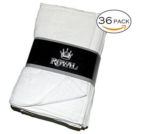 Royal Terry Towels - 36 Pack - 100% Pure White Cotton - 14 x 17 ...