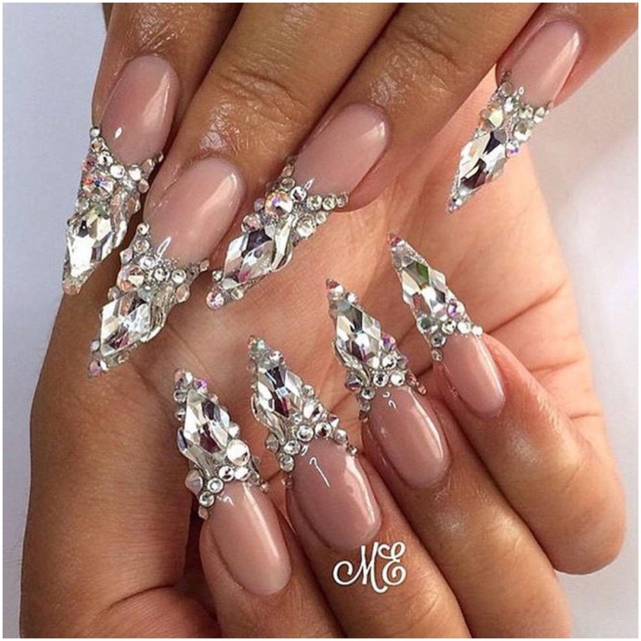 бриллиантовый дизайн ногтей фото этом посте можете