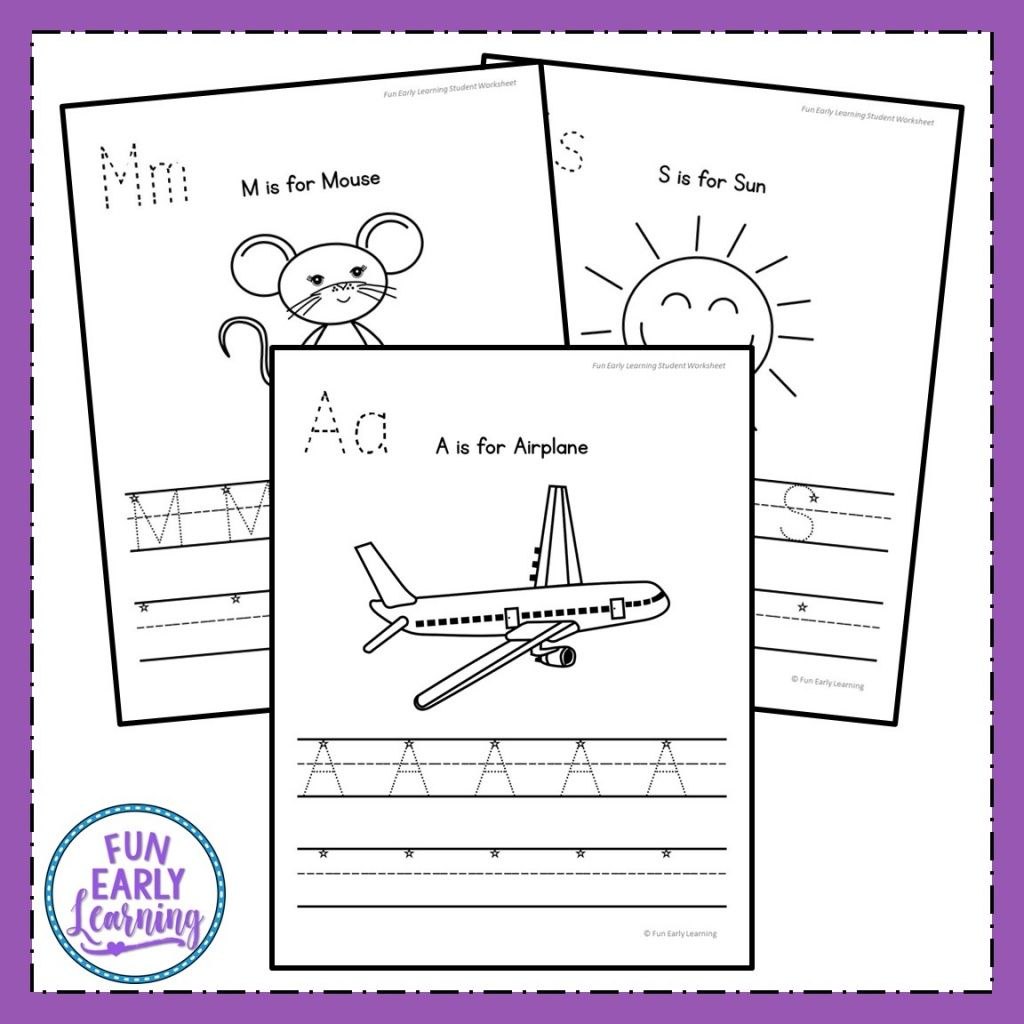 Uppercase Letter Worksheets With Guided Lessons