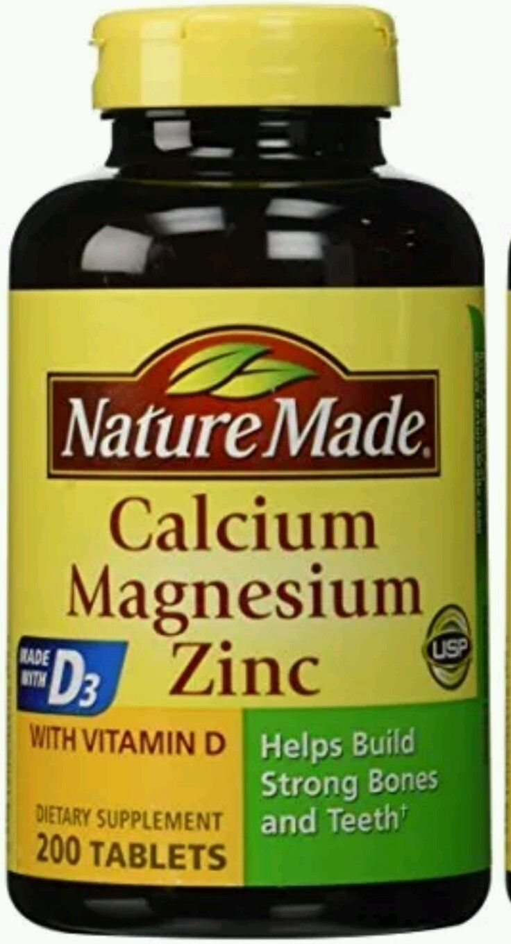 3e90041fc431 Nature Made Calcium Magnesium Zinc Tablets with Vitamin D3 200 Count Tablets