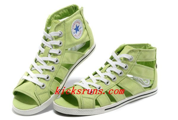 ea1272ad8be4 Light Green Converse All Star Roman Shoes By Avril Lavigne High Tops Canvas