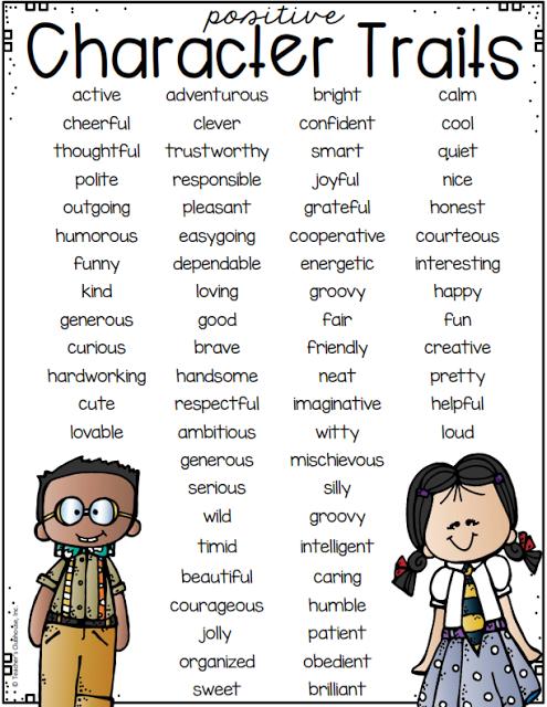 positive character traits list