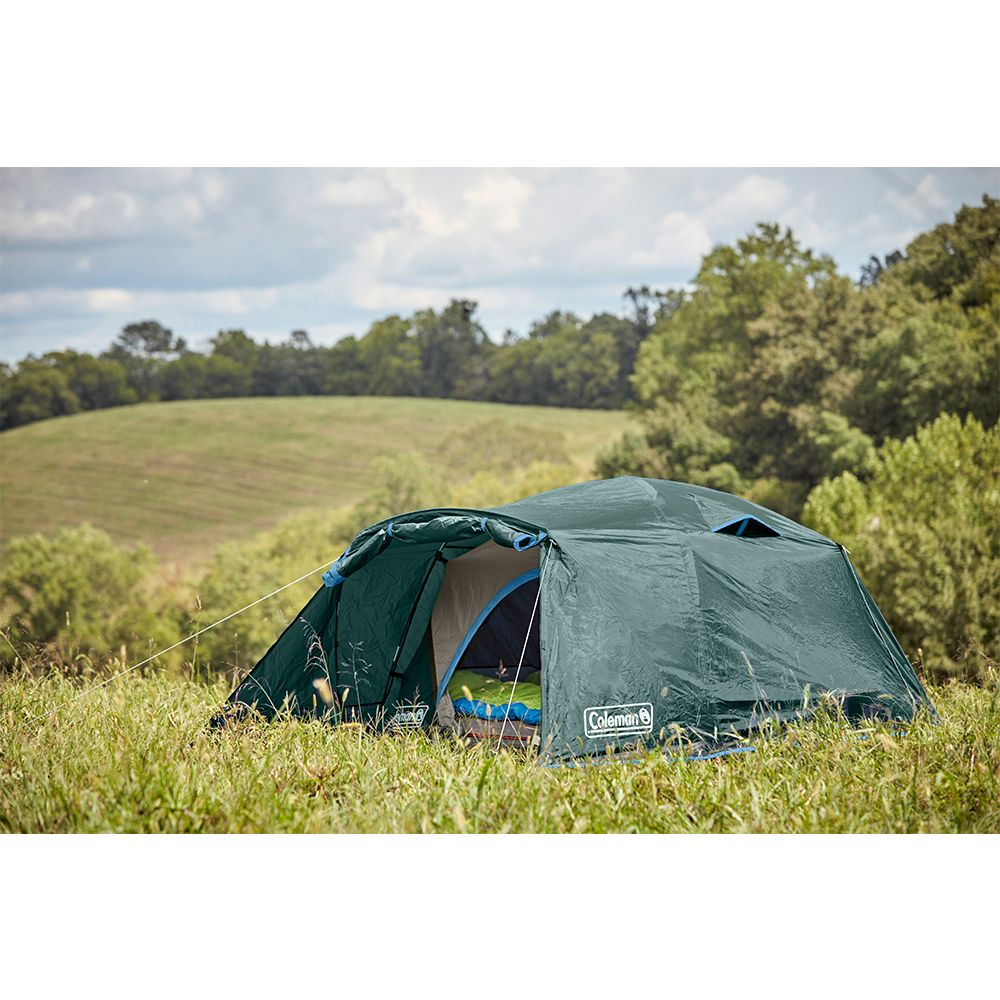 Coleman Skydome 6 Person Camping Tent With Full Fly Vestibule Evergreen In 2021 Tent Camping Tent Cool Tents