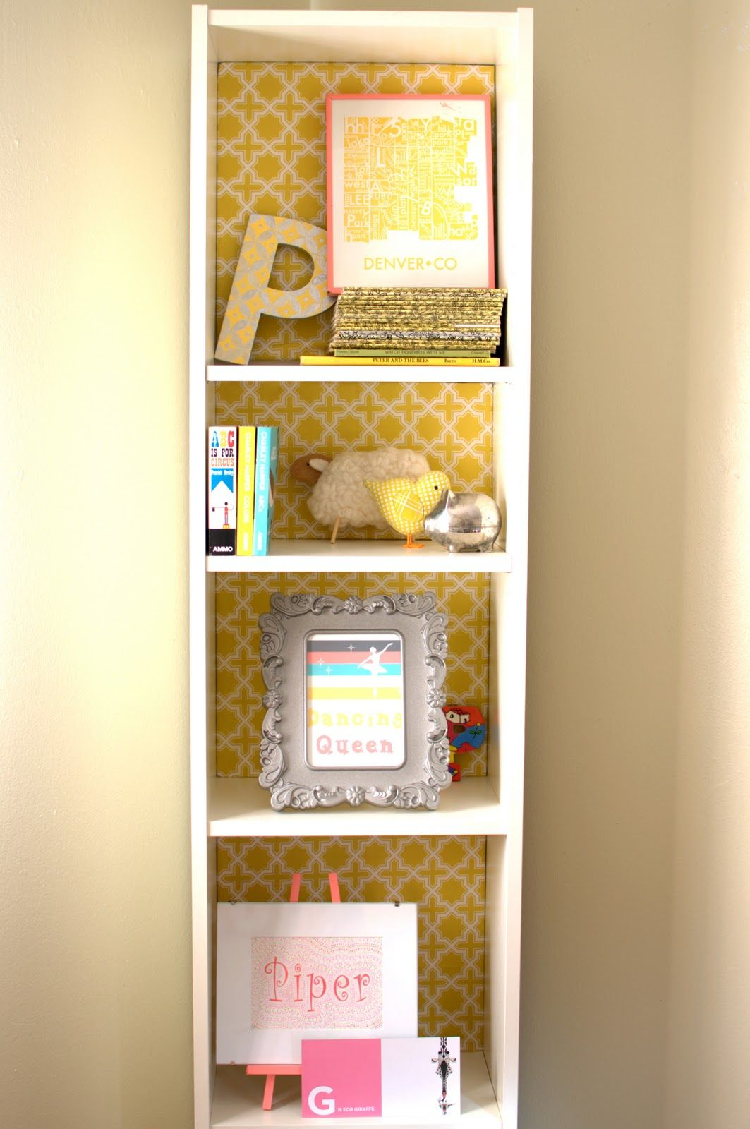 wall paper against my white bookcase in playroom | For the Home ...