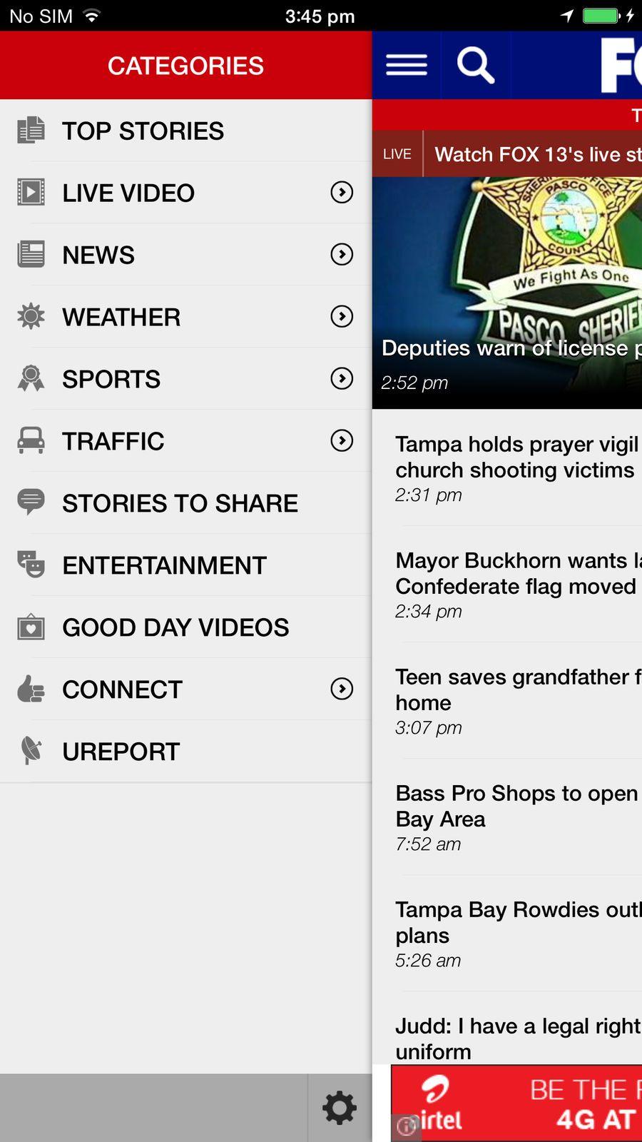 FOX 13 News Tampa Bay TelevisionFoxStationsios Tampa