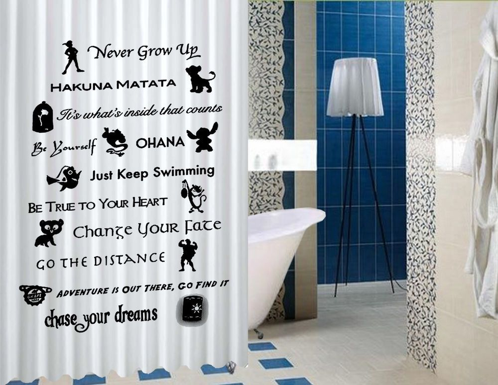 Disney Lessons Learned Mash Up High Quality Custom Shower Curtain