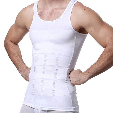 Mens Body Flat Chest Shaper Abdominal Binder Waist Tummy Trimmer Man Boobs Vest