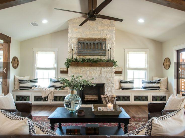 4 Simple Rustic Farmhouse Living Room Decor Ideas: Fixer Upper Season 4 Episode 4: The Big Country House
