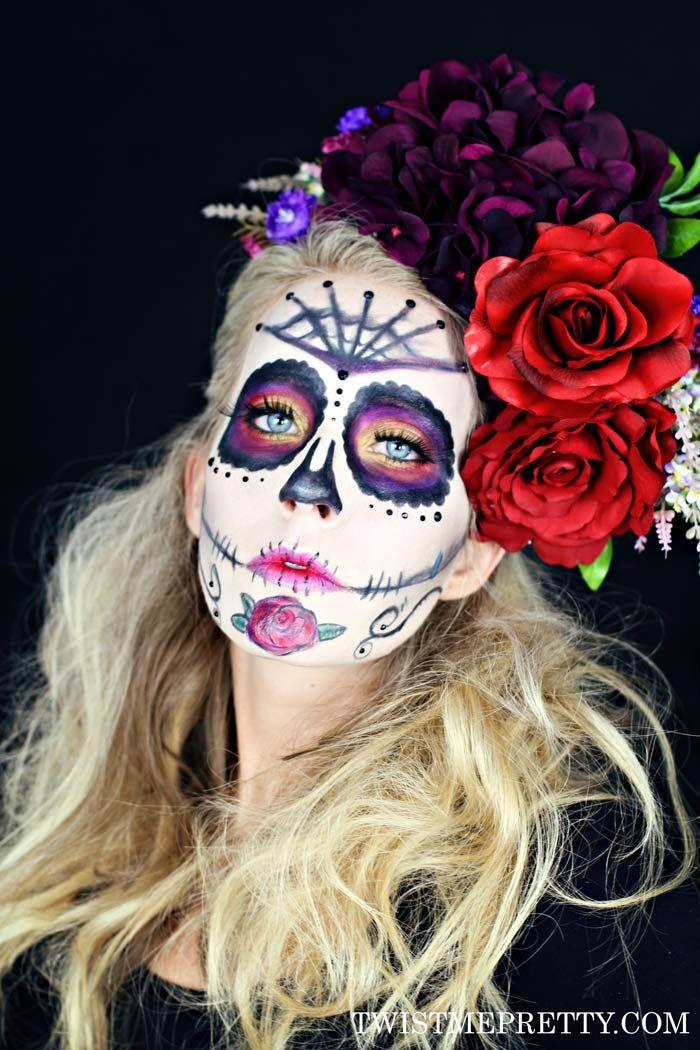 Sugar Skull Makeup Tutorial for Beginners Maquillaje de