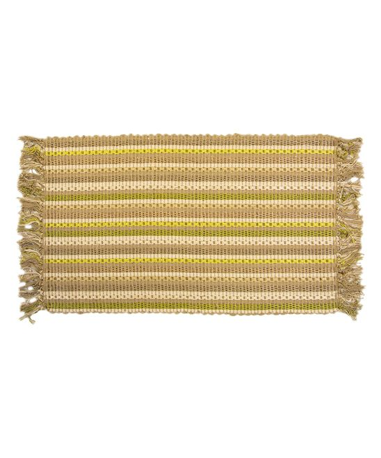 Green Chain Link Accent Rug