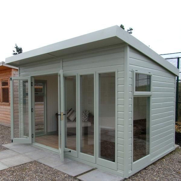 Malvern studio pent double glazed window garden office for Outside office shed