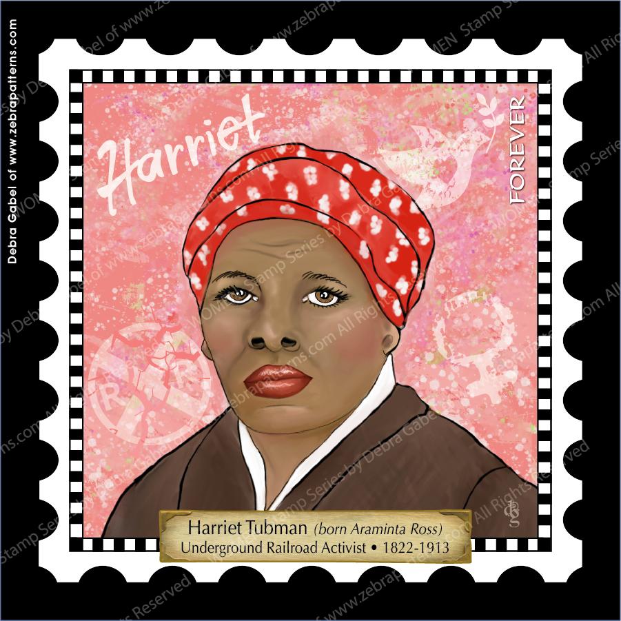 Harriet Tubman - 6 Square Mini Panel