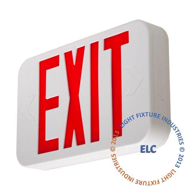 Exit Sign Modern Design Red Led White Battery Backup Exit Sign Red Led Led