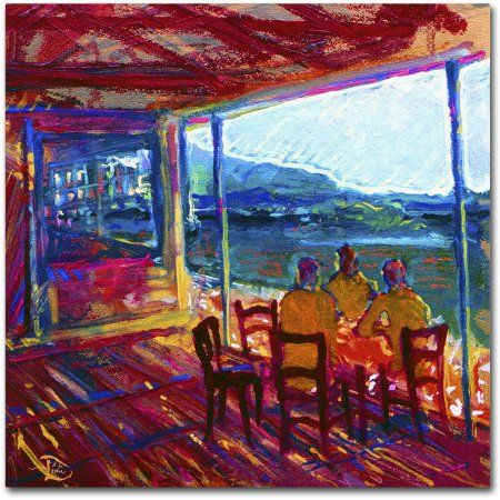 Trademark Fine Art The 60 Minute Meeting Canvas Art by Lowell S.V. Devin, Size: 14 x 14, Multicolor