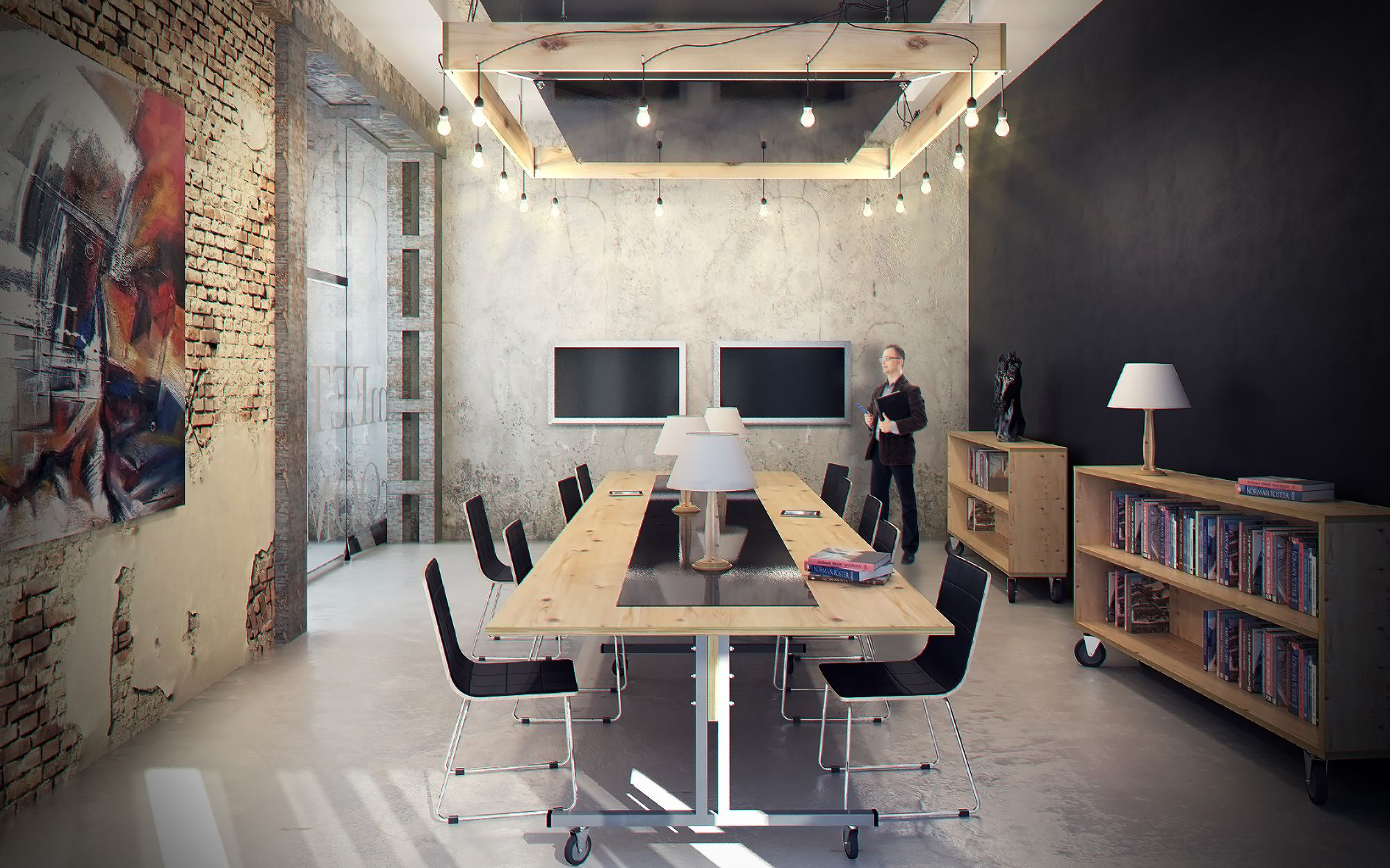 Дизайн В Стиле Лофт: 170+ (Фото) Гостиной/Кухни/Спальни ...