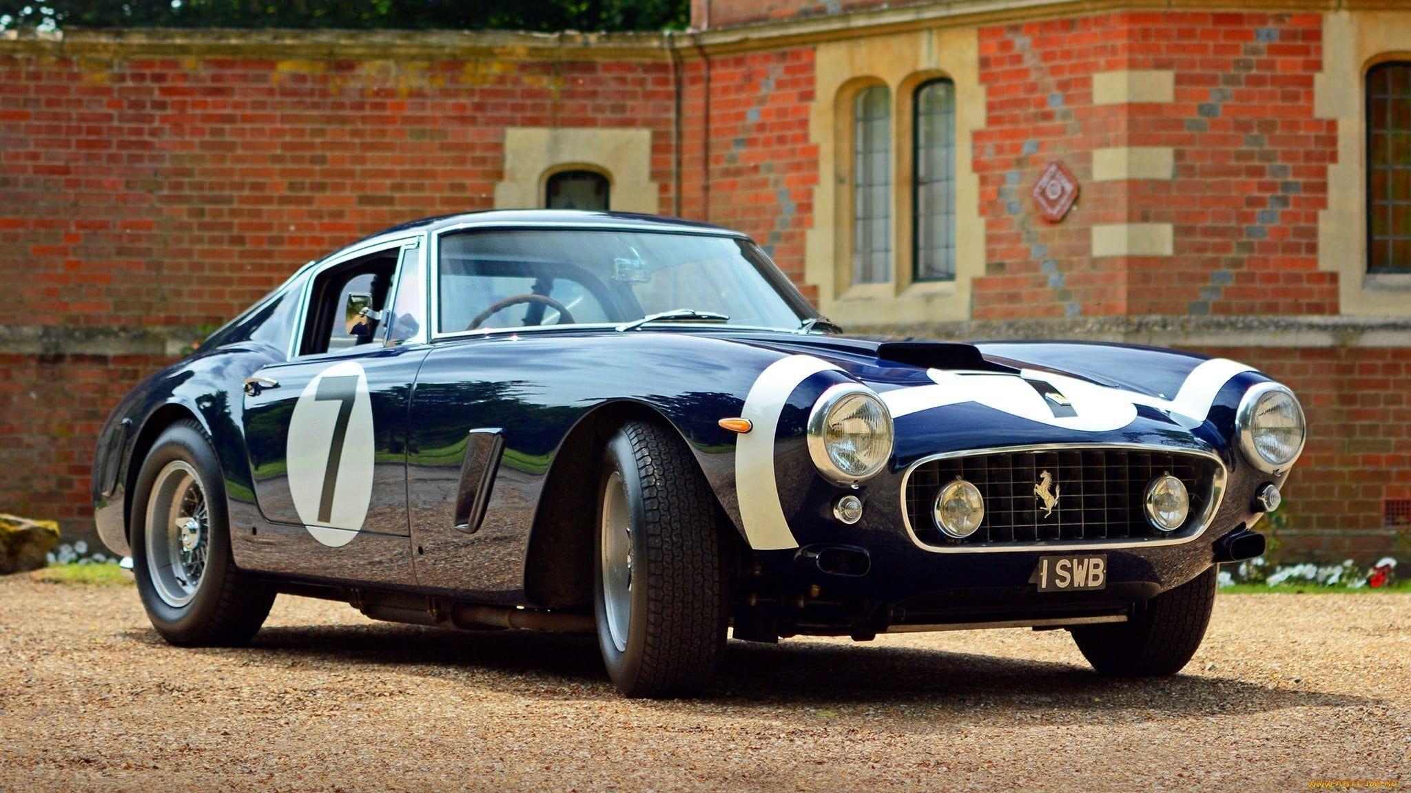 black coupe #Ferrari #car 250 GT Berlinetta SWB  Classic Ferrari old car classic…