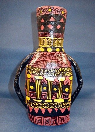 Ancient Greek Vase Art Artsonia Lesson Plan 3d Pinterest