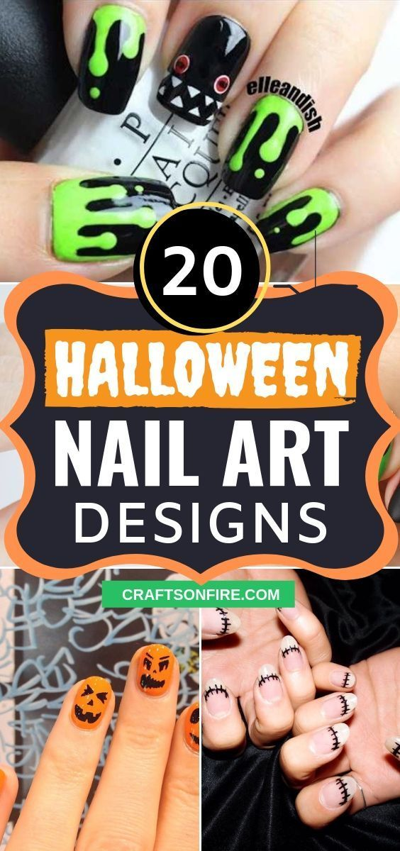 20 Spooky Yet Cute Halloween Nail Art Designs | Halloween ...