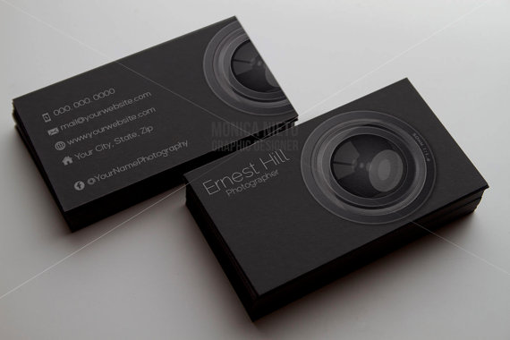 Printable Photography Business Card Template Photographer Business