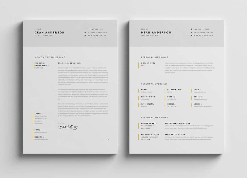 Resume Templates Minimalist (1) TEMPLATES EXAMPLE in