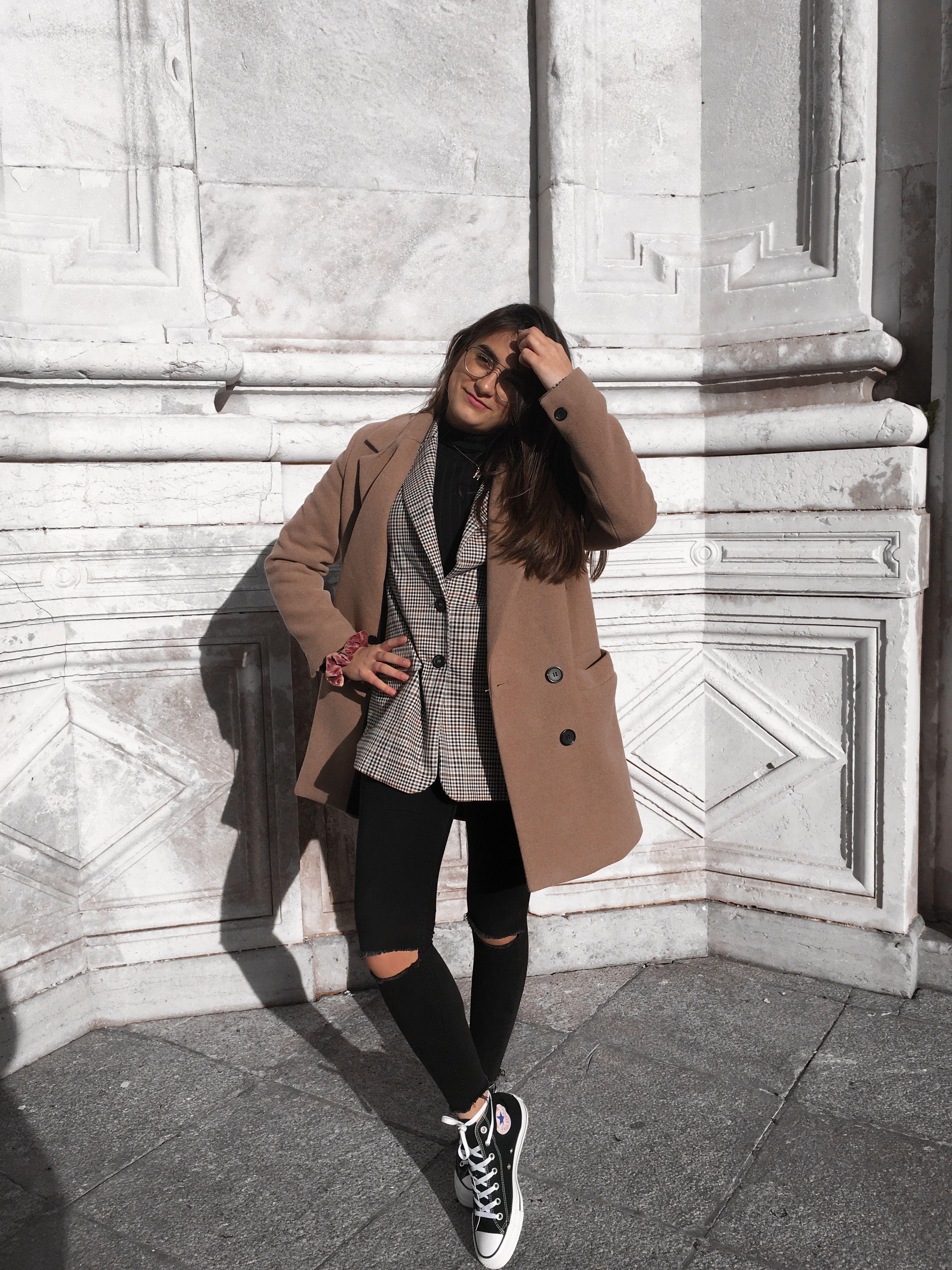 cb39d43663ad fashion  inspo  style  instagram  zara  blazer  converse