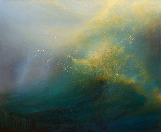 見たことないのに 観たことある 嵐の海 不思議と匂いと飛沫を感じてしまう幻想風景 ddn japan 抽象画の描き方 抽象風景画 風景画