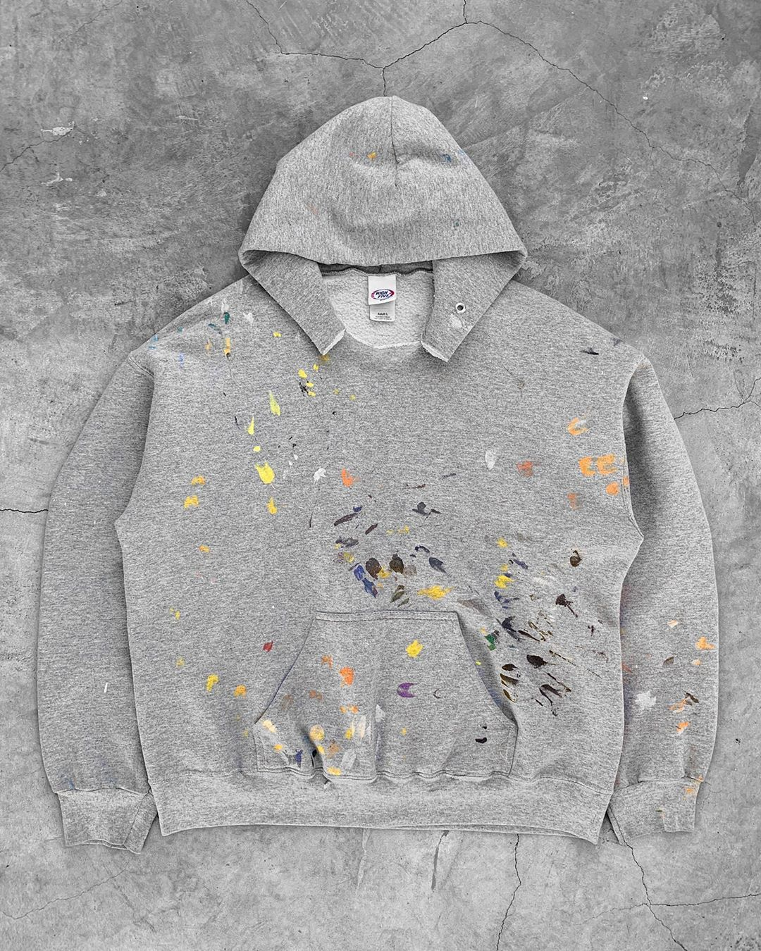 4 326 Likes 73 Comments Unsound Rags Unsoundrags On Instagram Grey Painters Hoodie 1990s Painter Hoodie Hoodies Denim Workwear