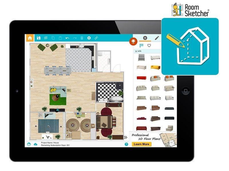 More Big News Roomsketcher Home Designer For Tablet Is Here Now It S Even Easier To Work On Your Online Home Design House Plan App Best Interior Design Apps