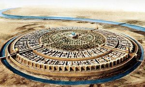 The round city of Baghdad in the 10th century, the peak of the Abbasid Caliphate. Illustration: Jean Soutif/Science Photo Library