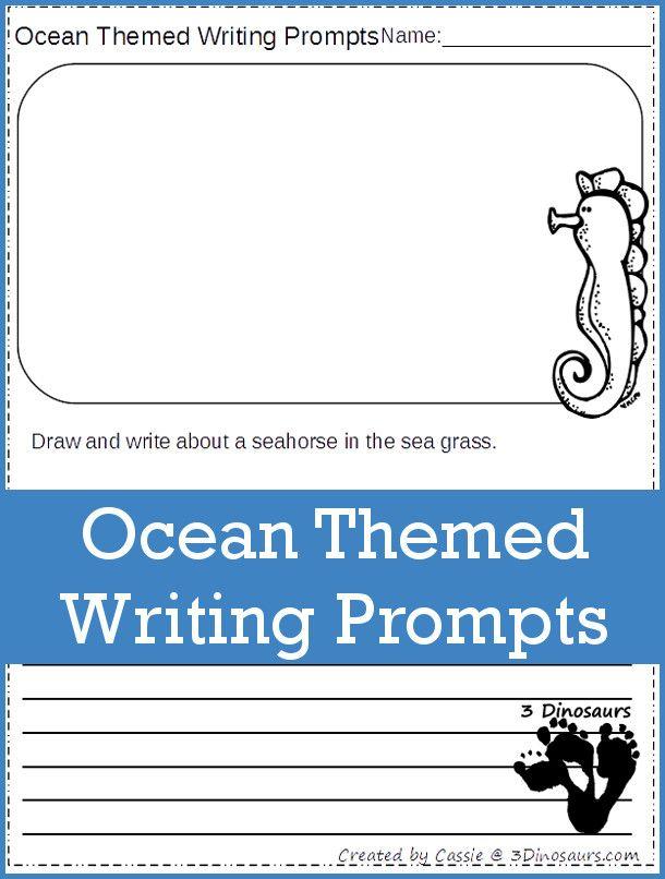 FREE Ocean Themed Writing Prompts in 2018 | Ocean Love | Pinterest ...