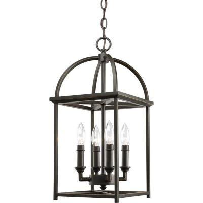 Home Depot Pendant Lights For Kitchen Progress Lighting Piedmont Collection 4Light Antique Bronze Foyer