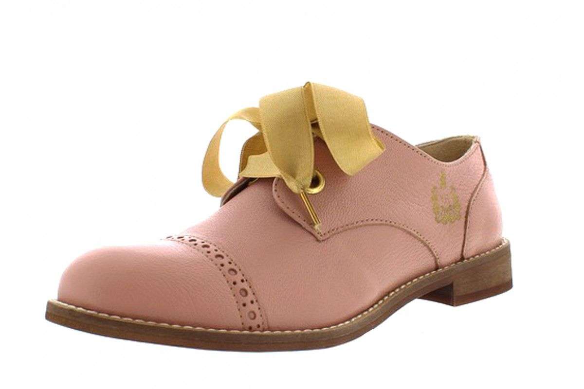 186a5ff133c Fly London Cristina Rodrigues Dwell 03 Rose Pink Leather Lace Up Oxford  Brogue Shoes