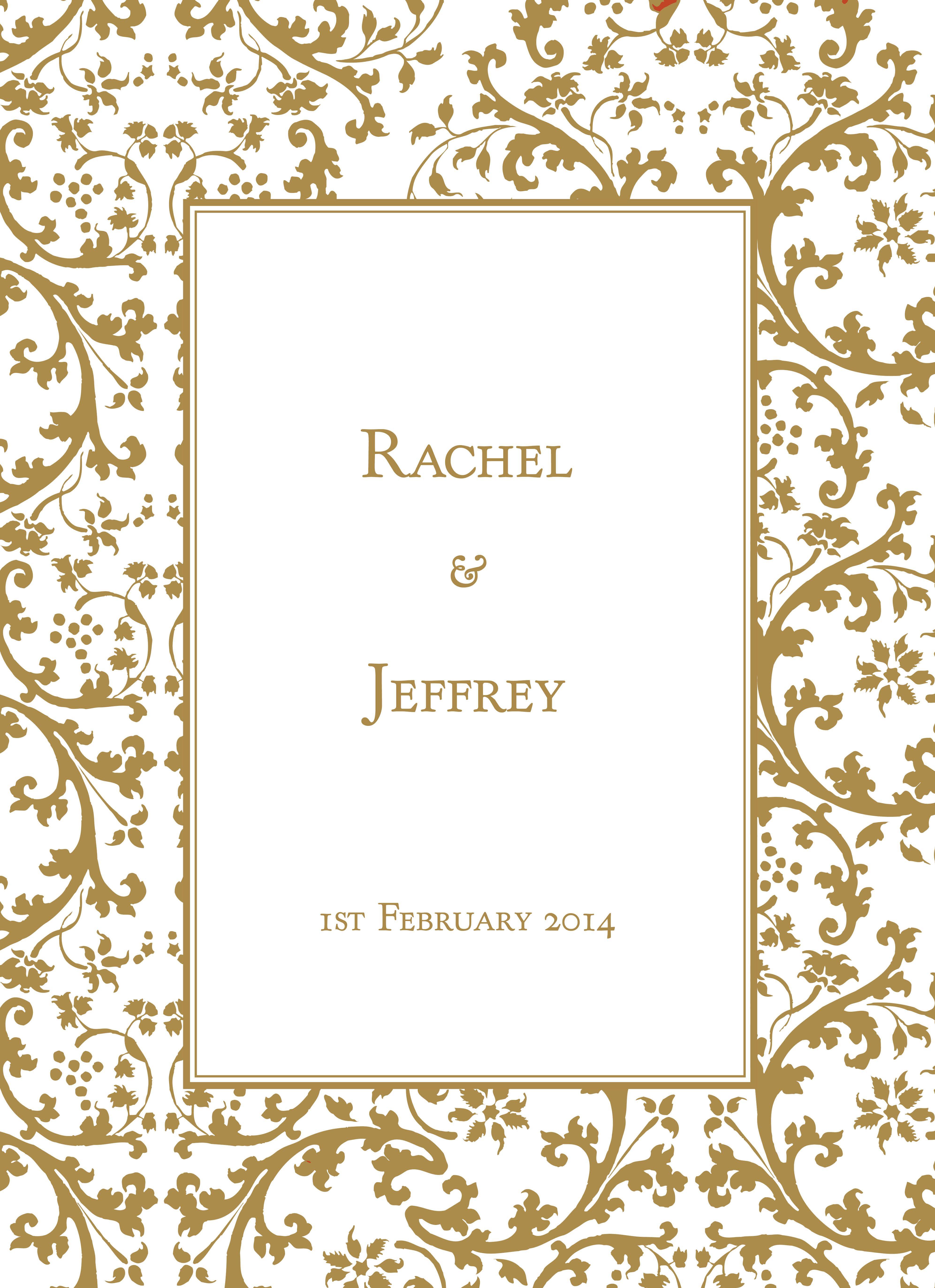wedding invitations borders gold dreamday invitations gold leaf ...