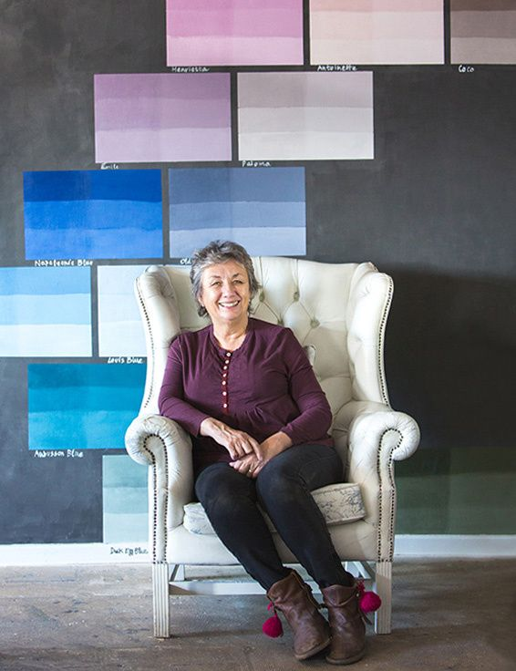 Chalk paint mogul annie sloan 5 pioneering women in interiors annie sloan is perhaps the worlds most respected expert in decorative paint colours and techniques she has written over 20 books on the subject and gumiabroncs Image collections