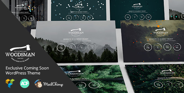 Woodsman - Coming Soon WordPress Theme
