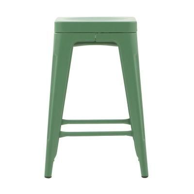 Home Decorators Collection Garden Backless Counter Stool in Stone Green-1042700610 - The Home Depot