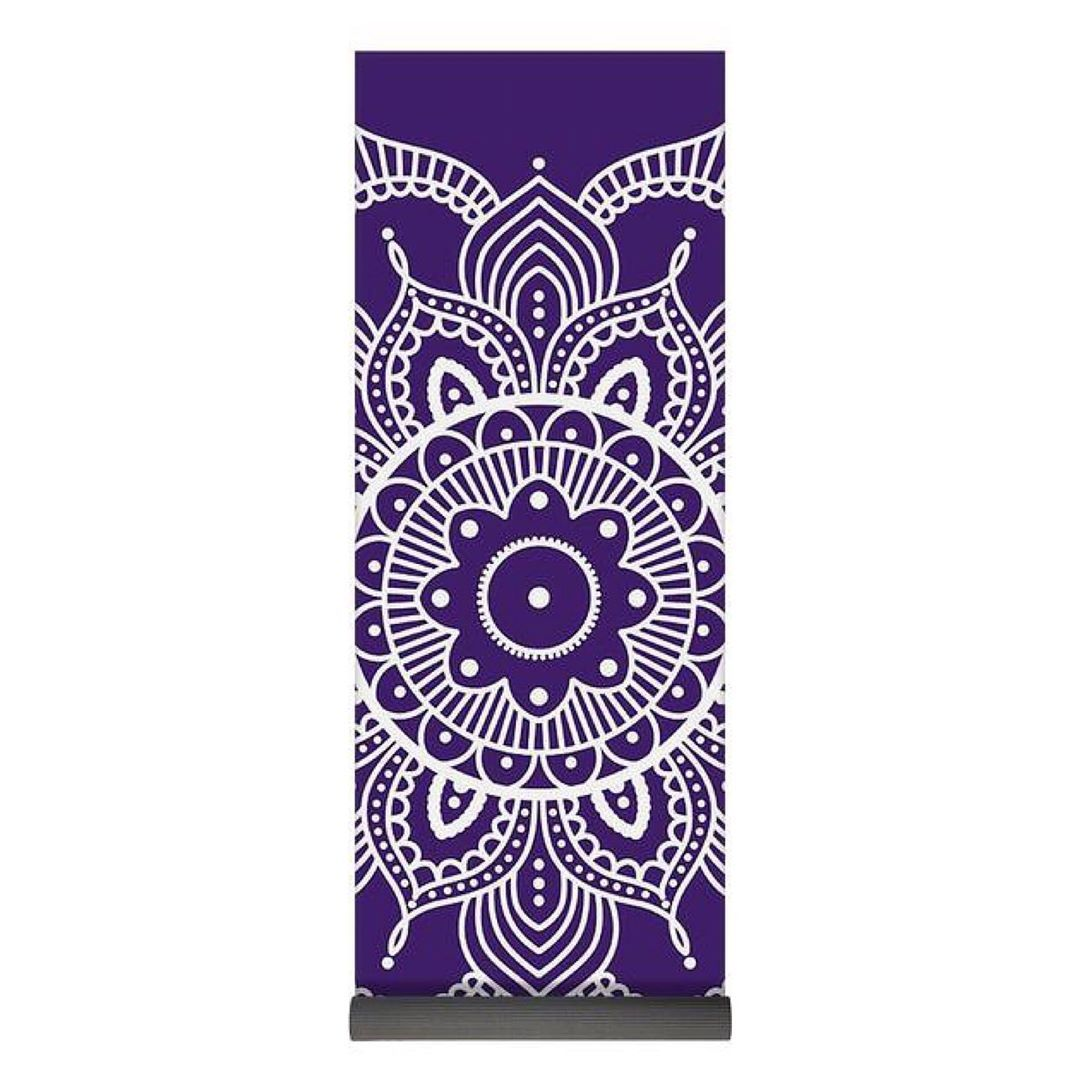 """mandala - yoga mat  Our premium yoga mats are 24"""" wide x 72"""" tall x 0.25"""" thick and made from natura..."""