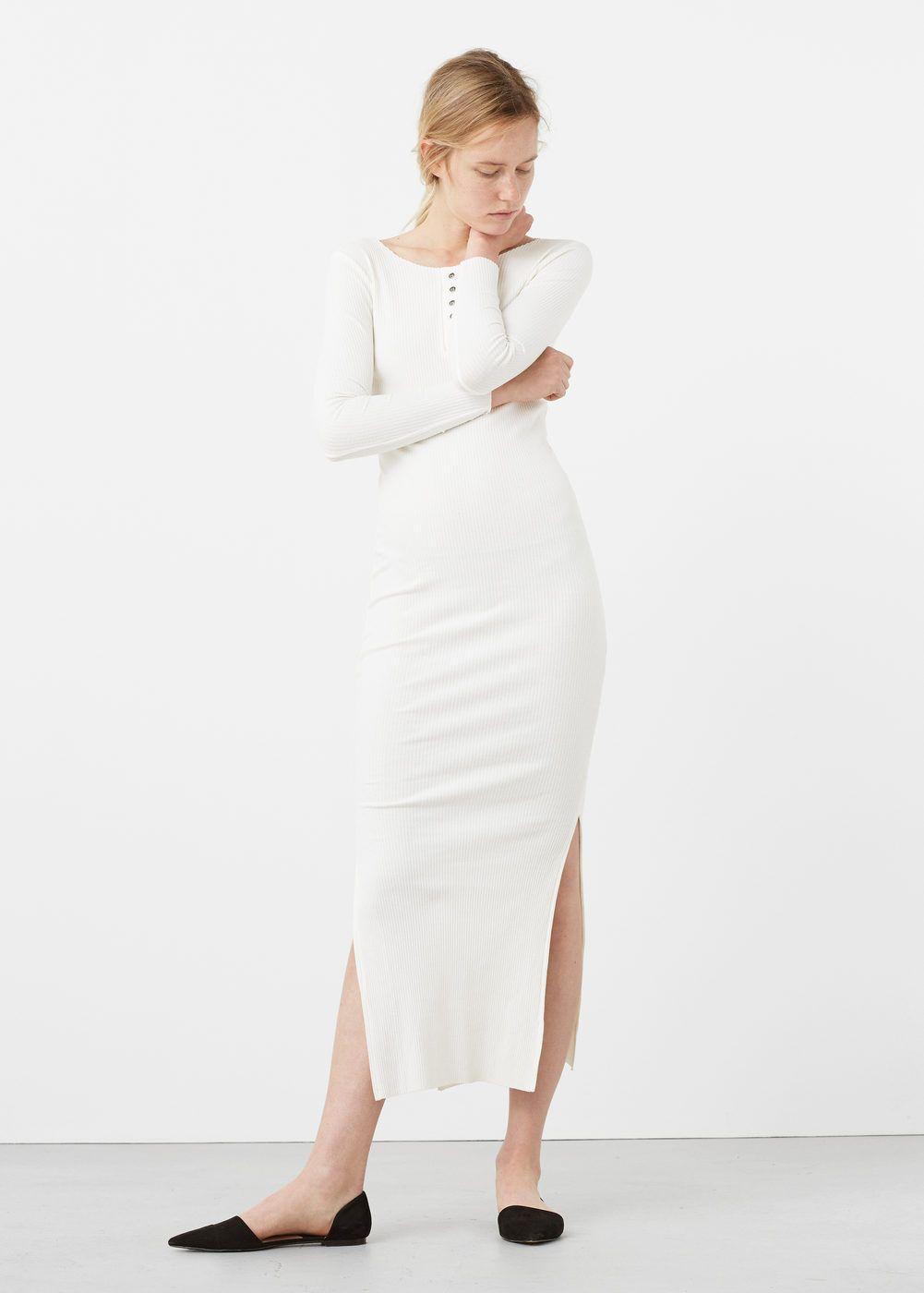 dc4eaceb850ba5 Geribde getailleerde jurk - Jurken voor Dames