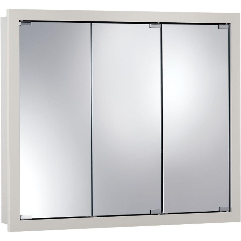 Granville 36 In W X 30 In H X 4 75 In D Surface Mount Medicine Cabinet In Classic White 740605x The Home Depot Surface Mount Medicine Cabinet Cabinet Classic Wood Medicine Cabinet