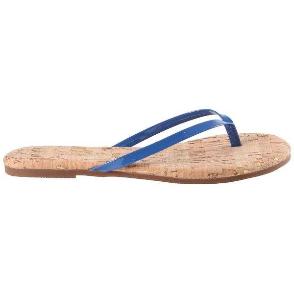 Yosi Samra Cork Flip-Flop ($28) ❤ liked on Polyvore. Blue SandalsShoes  SandalsPatent ...