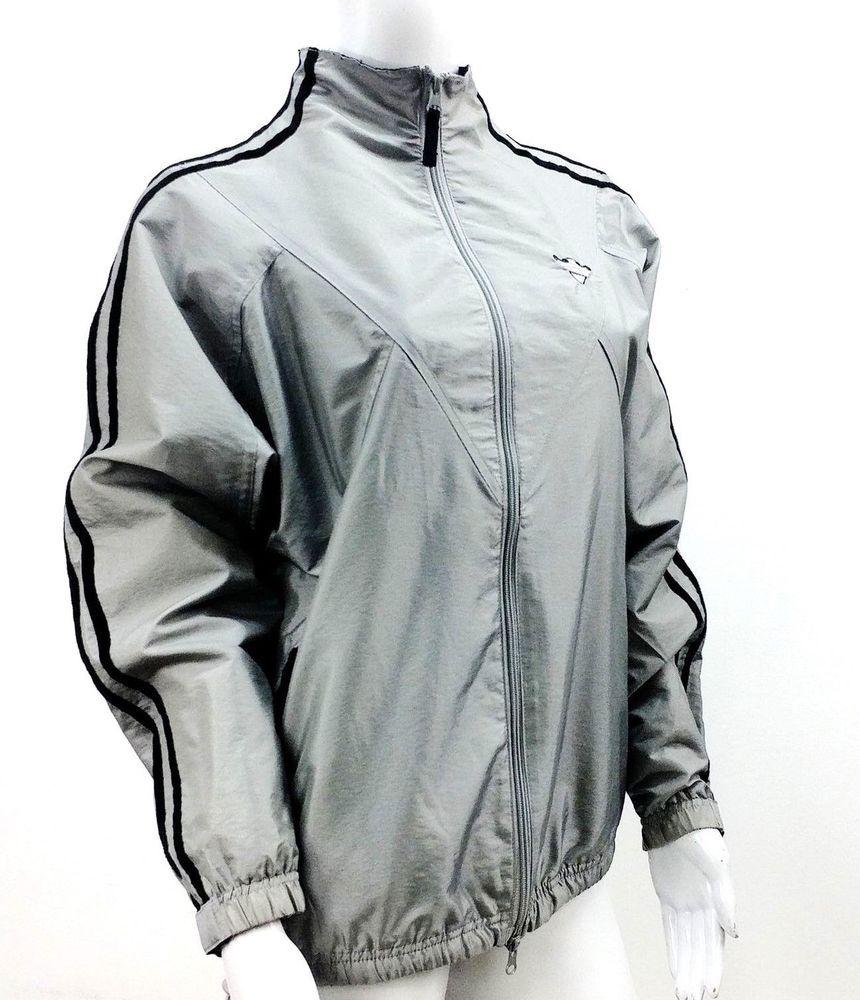 Catalina Jacket Womens Sz Small 4 6 Gray Athletic Running Windbreaker Full Zip Catalina Windbreaker Jackets Jackets For Women Athletic Jacket [ 1000 x 860 Pixel ]