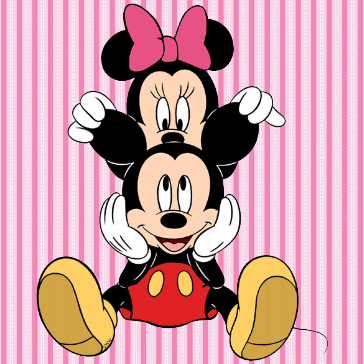 Minimouse Wallpaper: Minnie Loves Mickey 2