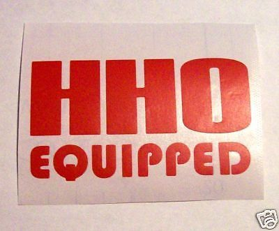 Hho hydrogen generator vinyl decals stickers exterior generators and car window decals