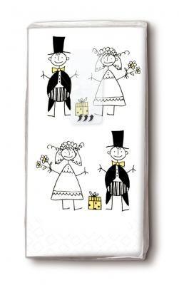 Bedruckte Taschentucher Hochzeit Brautpaar Comic Servietten Versand Tischdeko Kerzen Onlineshop Taschentucher Hochzeit Taschentucher Brautpaar