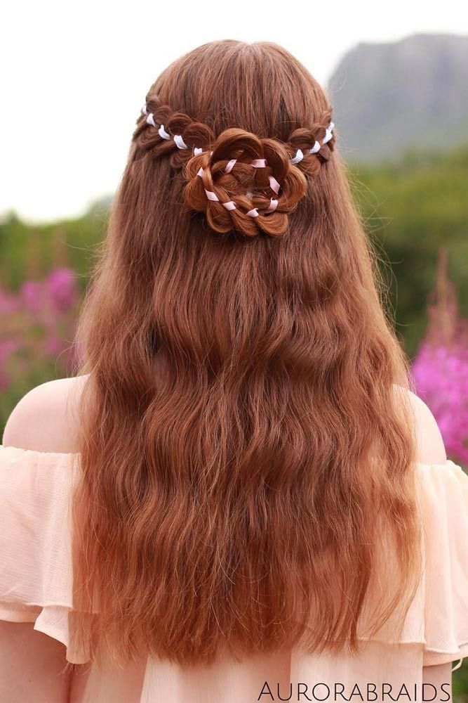 Bridal Hairstyle With Rose : 21 pretty rose hairstyles for long hair ideas from daily to